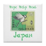 VINTAGE JAPANESE BIRD STAMP Tile Coaster