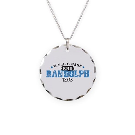 Randolph Air Force Base Necklace Circle Charm
