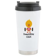Powerlifting Chick Ceramic Travel Mug