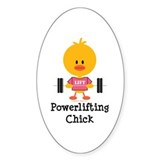 Powerlifting Chick Decal