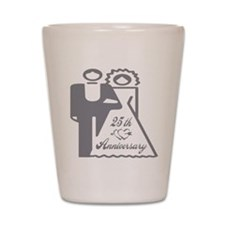 25th Wedding Anniversary Shot Glass