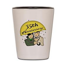 35th Wedding Anniversary Shot Glass