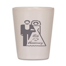 40th Wedding Anniversary Shot Glass