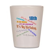 18th Birthday Shot Glass