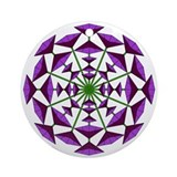Eclectic Flower 180 Ornament (Round)