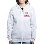 Pink Baby Due In November Women's Zip Hoodie