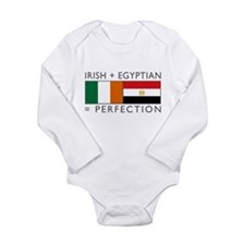 Irish Egyptian flags Long Sleeve Infant Bodysuit