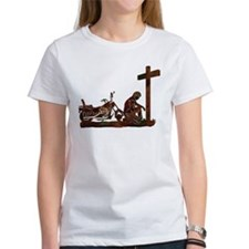 Biker at Cross Tee
