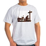 Biker at Cross T-Shirt