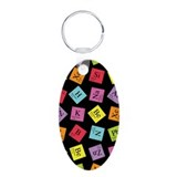 Periodic Elements Aluminum Oval Keychain