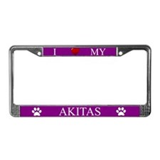 Purple I Love My Akitas Frame