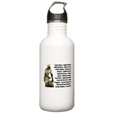 Soul Food Menu Water Bottle