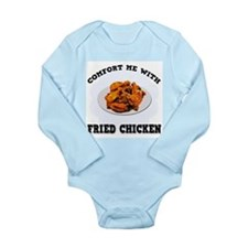 Comfort Fried Chicken Long Sleeve Infant Bodysuit