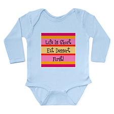 Eat Dessert First Long Sleeve Infant Bodysuit