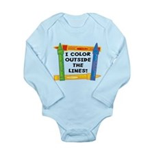 Color Outside The Lines Long Sleeve Infant Bodysui