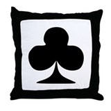 Cross - Poker Throw Pillow