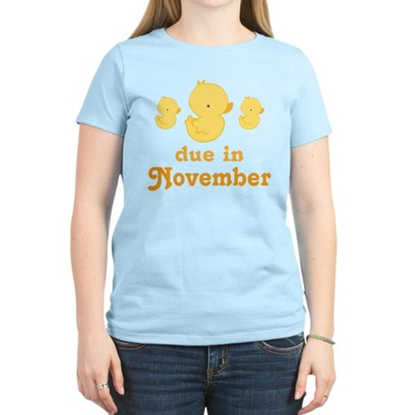 November Baby Duck Women's Light T-Shirt