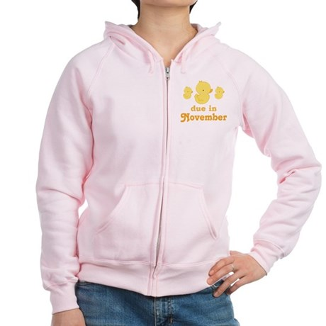 November Baby Duck Women's Zip Hoodie