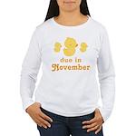 November Baby Duck Women's Long Sleeve T-Shirt