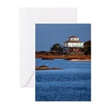 House on water, Cedar Key Greeting Cards (Package