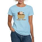 Baby Arriving In November Women's Light T-Shirt