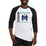 Purple & Teal Butterfly Baseball Jersey