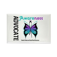 Purple & Teal Butterfly Rectangle Magnet