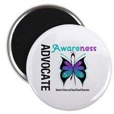 "Purple & Teal Butterfly 2.25"" Magnet (100 pack)"
