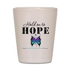 Purple & Teal Hope Shot Glass