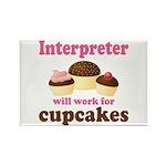 Funny Interpreter Rectangle Magnet
