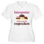 Funny Interpreter Women's Plus Size V-Neck T-Shirt