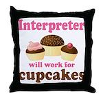 Funny Interpreter Throw Pillow