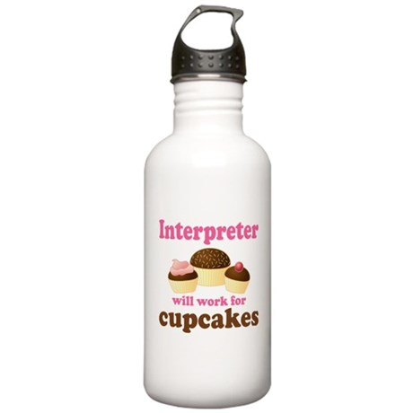 Funny Interpreter Stainless Water Bottle 1.0L