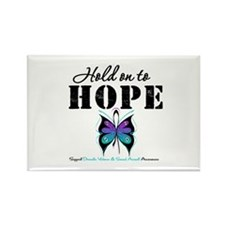 Purple & Teal Hope Rectangle Magnet (100 pack)