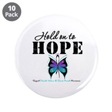"Purple & Teal Hope 3.5"" Button (10 pack)"