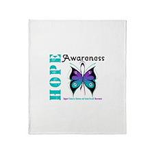 Purple & Teal Hope Deco Throw Blanket