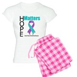 Hope Matters Purple & Teal Pajamas