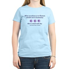 Sunshine, Flowers, Smiles Women's Light T-Shirt