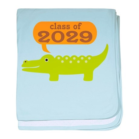 Class Of 2029 Alligator baby blanket