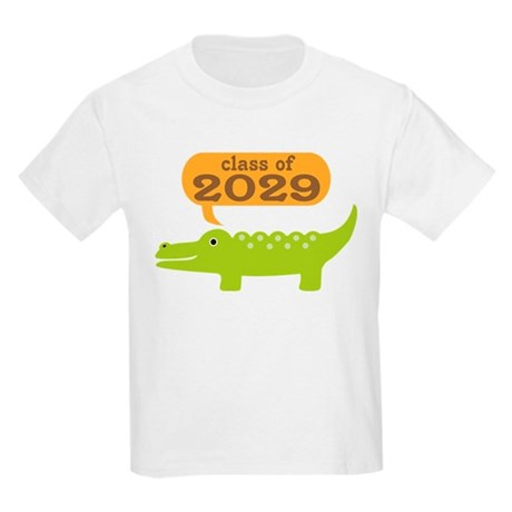 Class Of 2029 Alligator Kids Light T-Shirt
