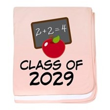 School Class Of 2029 Apple baby blanket