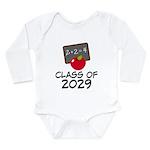 School Class Of 2029 Apple Long Sleeve Infant Body