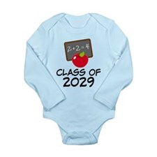 School Class Of 2029 Apple Long Sleeve Infant Body