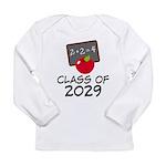 School Class Of 2029 Apple Long Sleeve Infant T-Sh