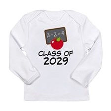 School Class Of 2029 Apple Long Sleeve Infant T-Sh