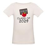 School Class Of 2029 Apple Organic Baby T-Shirt