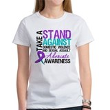 Take A Stand Teal & Purple Tee