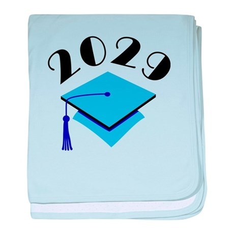2029 Graduation Hat Logo baby blanket