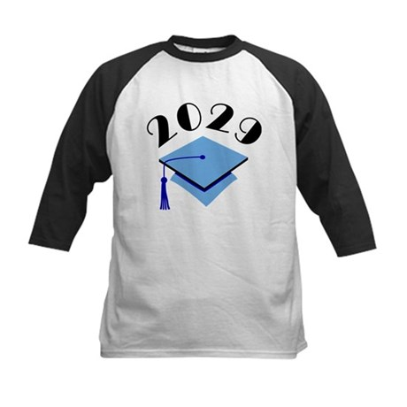2029 Graduation Hat Logo Kids Baseball Jersey