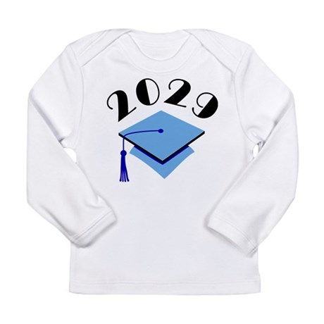2029 Graduation Hat Logo Long Sleeve Infant T-Shir
